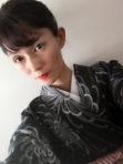 Kimono (Black with flowers)